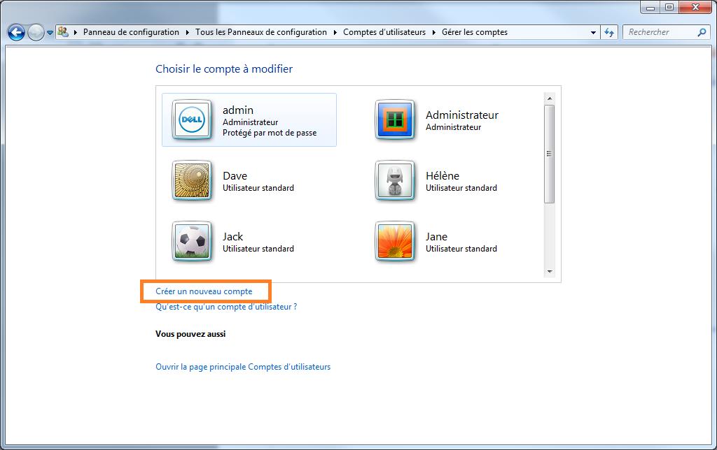 Cr er une nouvelle session utilisateur sous windows 7 for Ouvrir un lien dans une nouvelle fenetre