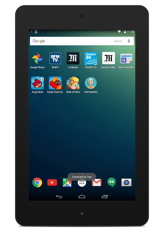 Classic Android desktop