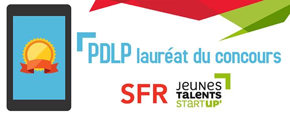 PDLP lauréat SFR Jeunes Talents Startup