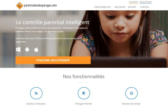 Nouveau site pour le contrôle parental Parentsdanslesparages.com
