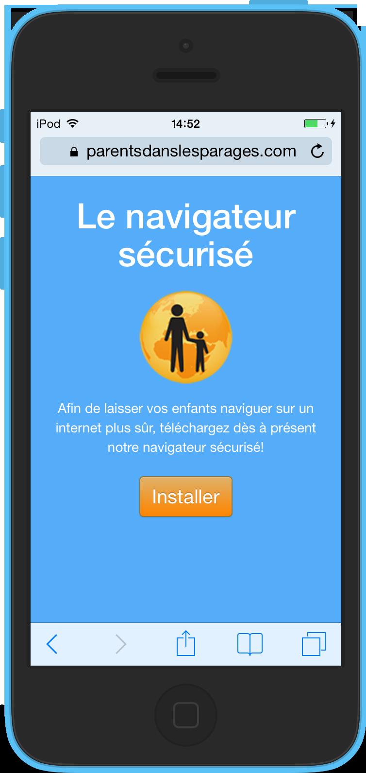 installation du navigateur internet sécurisé sur iOS