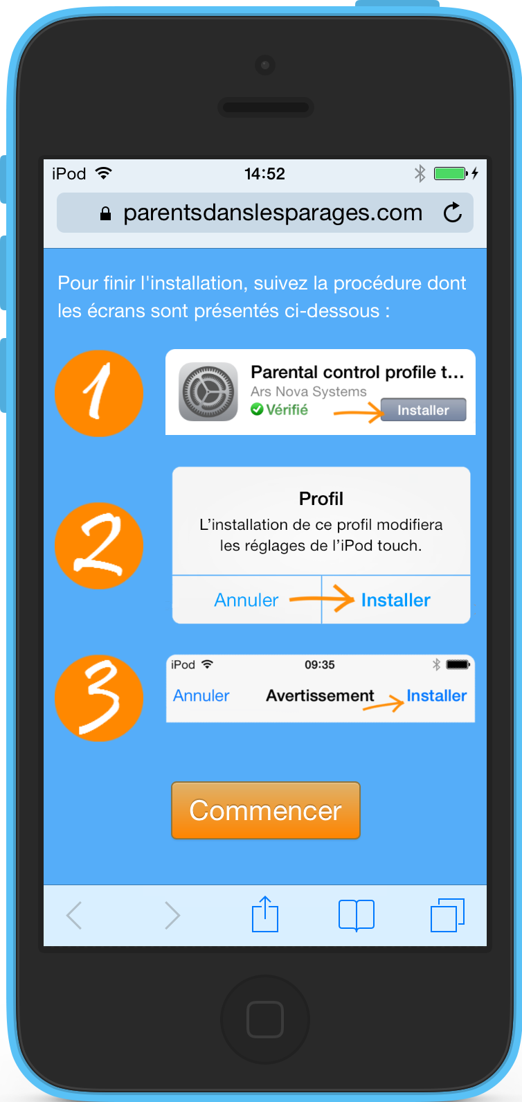 comment activer le controle parental apple