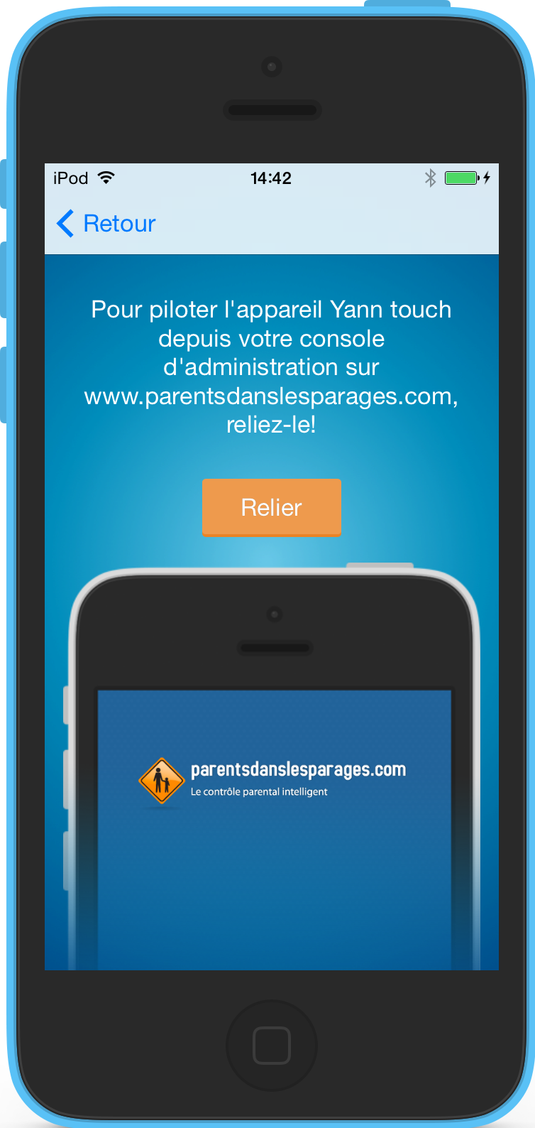 lien application iOS et console web