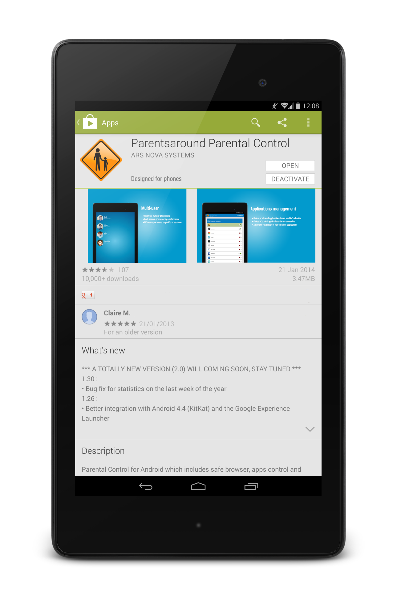 Parentsaround on Google Play