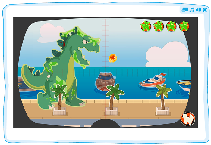 un jeu de Speaky Planet sur tablette