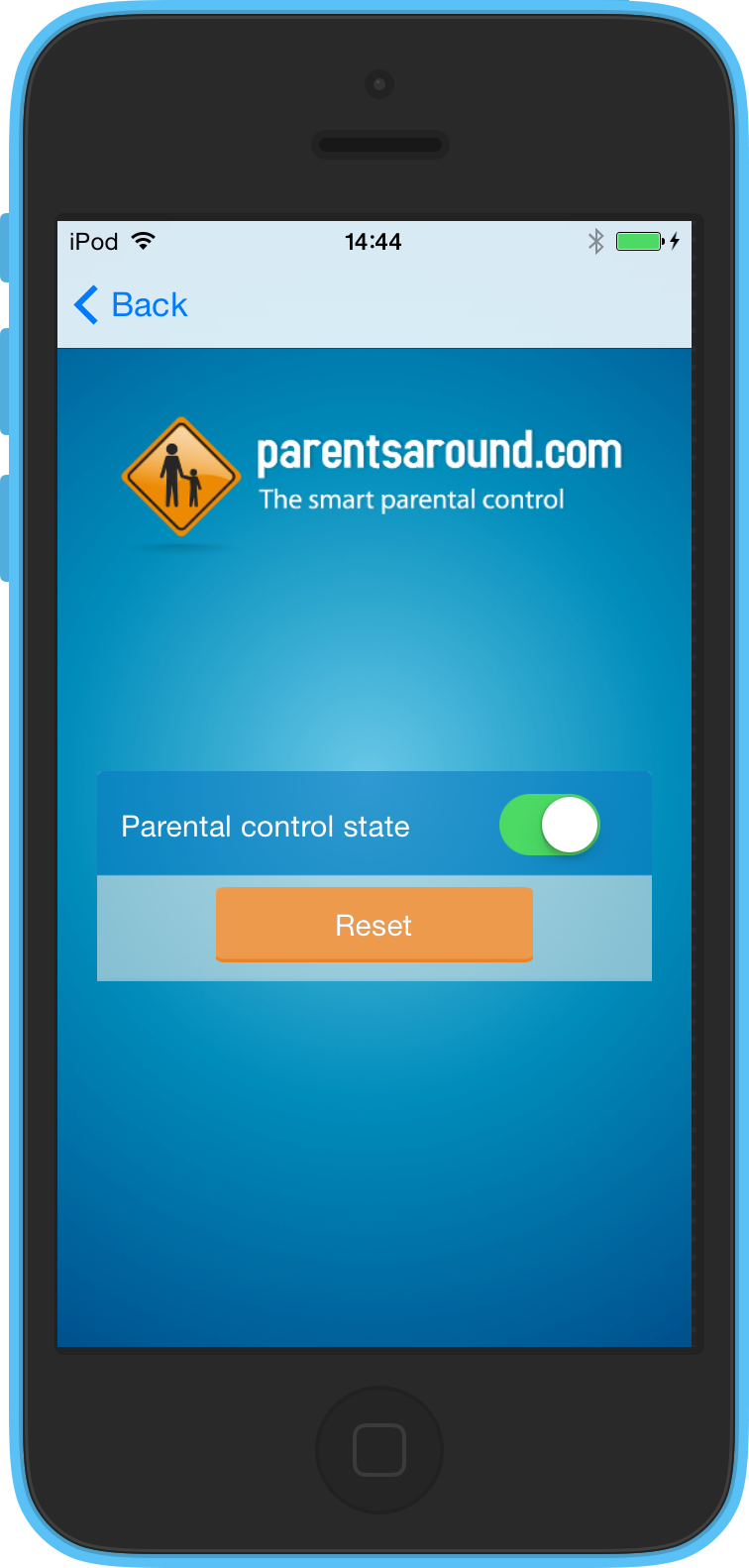 Set on the parental control on iOS